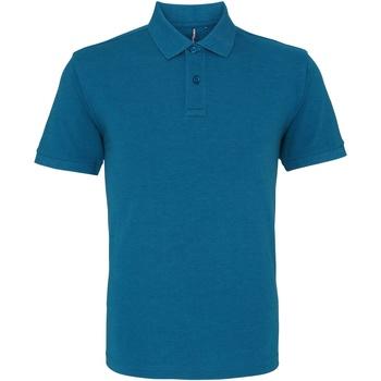 textil Herre Polo-t-shirts m. korte ærmer Asquith & Fox AQ010 Teal Heather