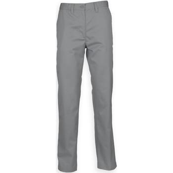 textil Herre Chinos / Gulerodsbukser Henbury HB640 Steel Grey