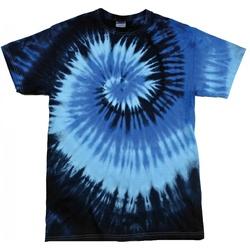 textil Dame T-shirts m. korte ærmer Colortone Rainbow Blue Ocean