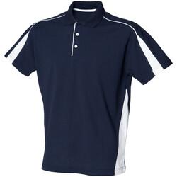 textil Herre Polo-t-shirts m. korte ærmer Finden & Hales LV390 Navy/White
