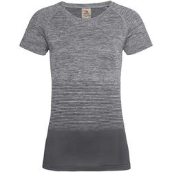 textil Dame T-shirts m. korte ærmer Stedman  Light Grey Transition