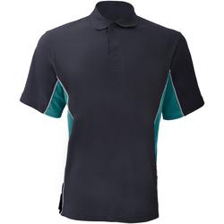 textil Herre Polo-t-shirts m. korte ærmer Gamegear KK475 Navy/ Turqoise