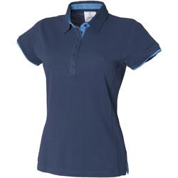 textil Dame Polo-t-shirts m. korte ærmer Front Row FR201 Navy/Marine