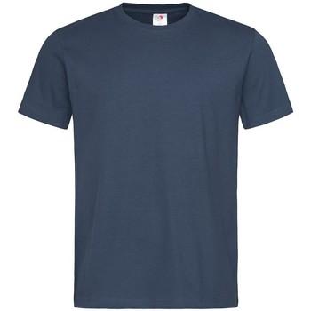 textil Herre T-shirts m. korte ærmer Stedman  Navy
