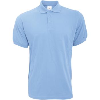textil Herre Polo-t-shirts m. korte ærmer B And C PU409 Sky Blue