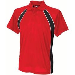 textil Herre Polo-t-shirts m. korte ærmer Finden & Hales LV350 Red/Black/White