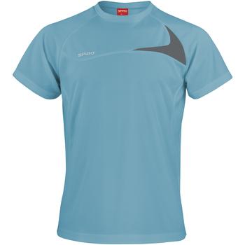 textil Herre T-shirts m. korte ærmer Spiro S182M Aqua/Grey