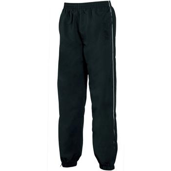 textil Herre Træningsbukser Tombo Teamsport TL049 Black/White piping