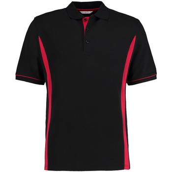 textil Herre Polo-t-shirts m. korte ærmer Kustom Kit Scottsdale Black/Red