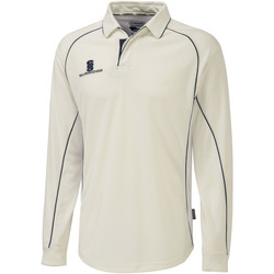 textil Herre Polo-t-shirts m. lange ærmer Surridge  White/Navy trim