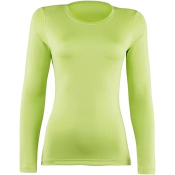 textil Dame Langærmede T-shirts Rhino RH003 Lime