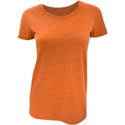 textil Dame T-shirts m. korte ærmer Bella + Canvas BE8413 Orange Triblend