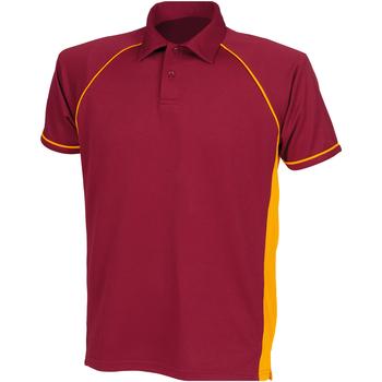 textil Børn Polo-t-shirts m. korte ærmer Finden & Hales LV372 Maroon/ Amber/ Amber