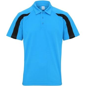 textil Herre Polo-t-shirts m. korte ærmer Awdis JC043 Sapphire Blue/Jet Black