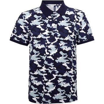 textil Herre Polo-t-shirts m. korte ærmer Asquith & Fox AQ018 Camo Blue
