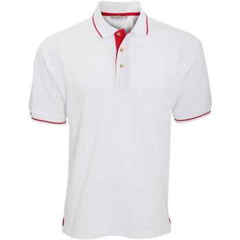 textil Herre Polo-t-shirts m. korte ærmer Kustom Kit KK606 White/Bright Red