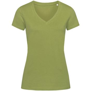 textil Dame T-shirts m. korte ærmer Stedman Stars Janet Earth Green