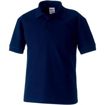 textil Dreng Polo-t-shirts m. korte ærmer Jerzees Schoolgear 65/35 French Navy