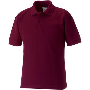 textil Dreng Polo-t-shirts m. korte ærmer Jerzees Schoolgear 539B Burgundy