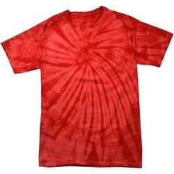 textil T-shirts m. korte ærmer Colortone Tonal Spider Red