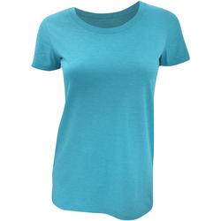 textil Dame T-shirts m. korte ærmer Bella + Canvas BE8413 Aqua Triblend