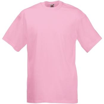 textil Herre T-shirts m. korte ærmer Fruit Of The Loom 61036 Light Pink