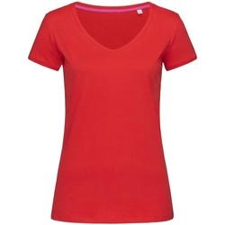 textil Dame T-shirts m. korte ærmer Stedman Stars Megan Crimson Red
