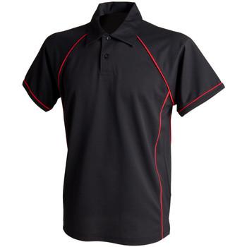 textil Herre Polo-t-shirts m. korte ærmer Finden & Hales Piped Black/Red