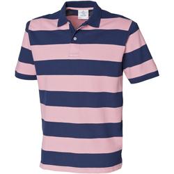 textil Herre Polo-t-shirts m. korte ærmer Front Row FR210 Navy/Pink