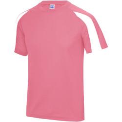 textil Herre T-shirts m. korte ærmer Just Cool JC003 Electric Pink/Arctic White