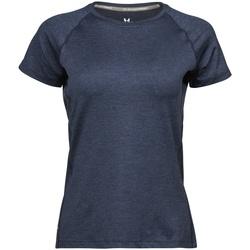 textil Dame T-shirts m. korte ærmer Tee Jays Cool Dry Navy Melange