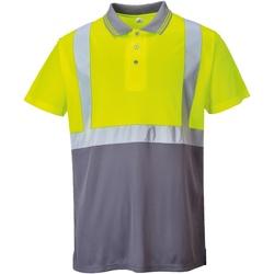 textil Herre Polo-t-shirts m. korte ærmer Portwest  Yellow/ Grey