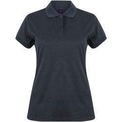 textil Dame Polo-t-shirts m. korte ærmer Henbury Coolplus Heather Navy
