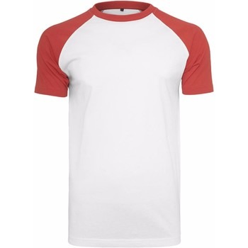 textil Herre T-shirts m. korte ærmer Build Your Brand BY007 White/Red