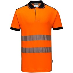 textil Herre Polo-t-shirts m. korte ærmer Portwest PW368 Orange/Black