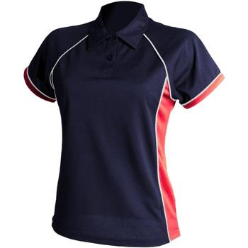 textil Dame Polo-t-shirts m. korte ærmer Finden & Hales LV371 Navy/ Red/ White