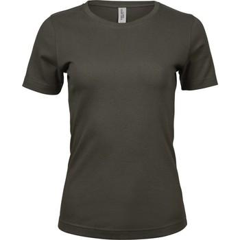 textil Dame T-shirts m. korte ærmer Tee Jays Interlock Dark Olive
