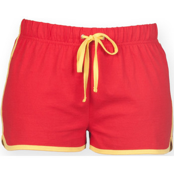 textil Dame Shorts Skinni Fit SK069 Red/ Yellow