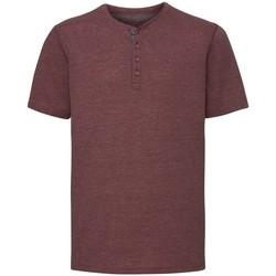 textil Herre T-shirts m. korte ærmer Russell Henley Maroon Marl