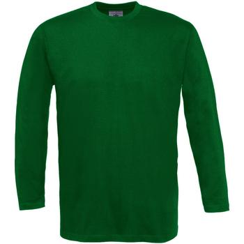 textil Herre Langærmede T-shirts B And C TU003 Bottle Green