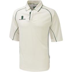 textil Dreng Polo-t-shirts m. korte ærmer Surridge SU01B White/Green trim