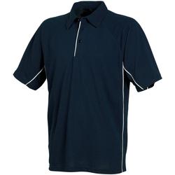 textil Herre Polo-t-shirts m. korte ærmer Tombo Teamsport TL065 Navy/Navy/White piping