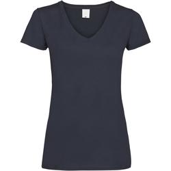 textil Dame T-shirts m. korte ærmer Universal Textiles Value Midnight Blue