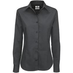 textil Dame Skjorter / Skjortebluser B And C SWT83 Dark Grey