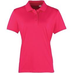 textil Dame Polo-t-shirts m. korte ærmer Premier PR616 Hot Pink