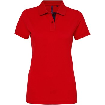 textil Dame Polo-t-shirts m. korte ærmer Asquith & Fox Contrast Red/ Navy