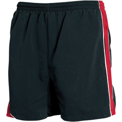 textil Herre Shorts Tombo Teamsport TL081 Black/Red/ White Piping