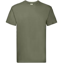 textil Herre T-shirts m. korte ærmer Fruit Of The Loom 61044 Classic Olive