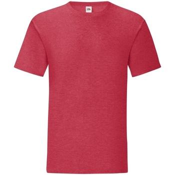 textil Herre T-shirts m. korte ærmer Fruit Of The Loom 61430 Heather Red