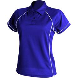 textil Dame Polo-t-shirts m. korte ærmer Finden & Hales LV371 Royal/White
